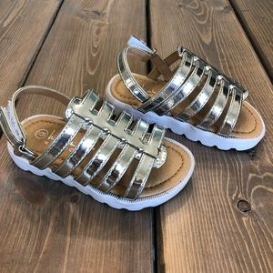 Silver girls sandals